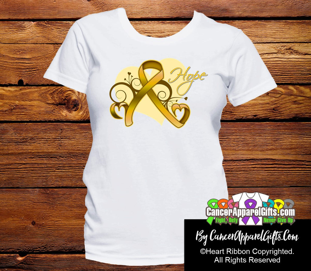 Appendix Cancer Heart of Hope Ribbon Shirts