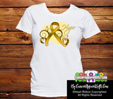 Appendix Cancer Heart of Hope Ribbon Shirts - Cancer Apparel and Gifts
