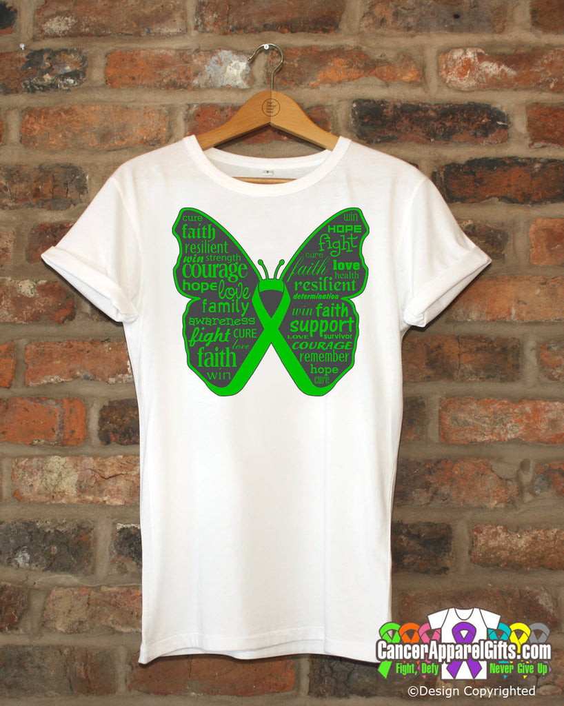 Bile Duct Cancer Butterfly Collage of Words Shirts