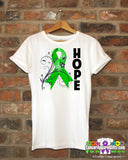 Bile Duct Cancer Floral Hope Ribbon T-Shirt