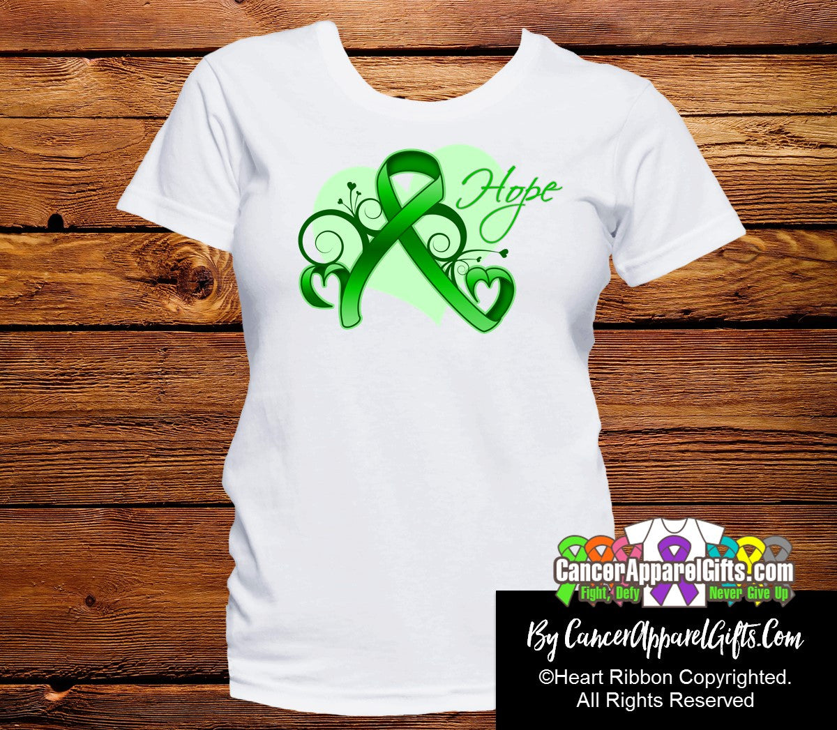 Bile Duct Cancer Heart of Hope Ribbon Shirts