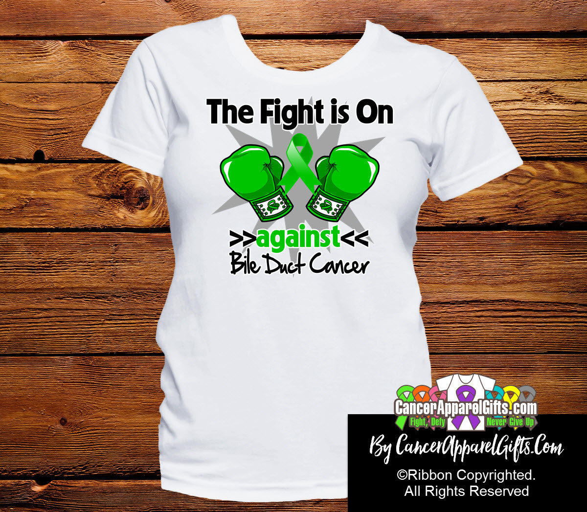 Bile Duct Cancer The Fight is On Ladies Shirts