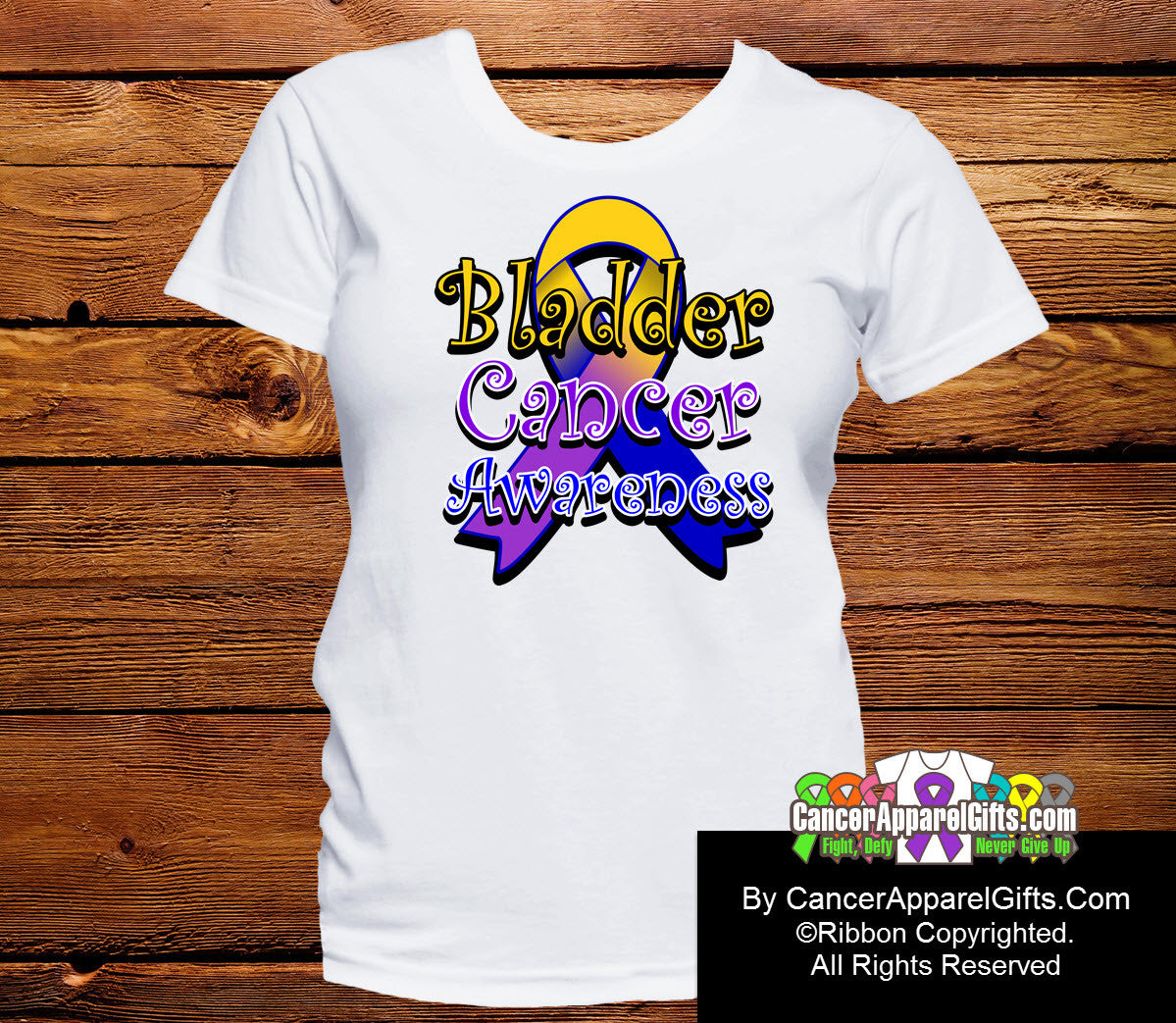 Bladder Cancer Awareness Ribbon Shirts