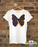 Bladder Cancer Butterfly Collage of Words Shirts