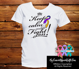 Bladder Cancer Keep Calm and Fight On Shirts - Cancer Apparel and Gifts