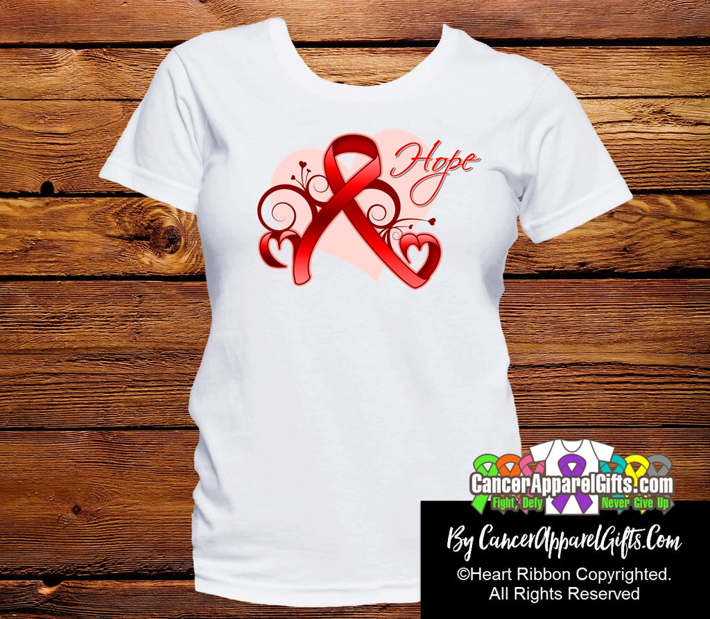 Blood Cancer Heart of Hope Ribbon Shirts