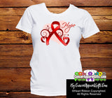 Blood Cancer Heart of Hope Ribbon Shirts - Cancer Apparel and Gifts