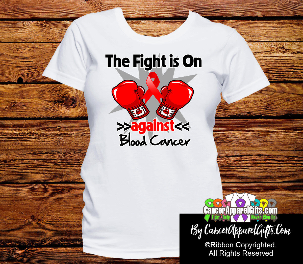 Blood Cancer The Fight is On Ladies Shirts