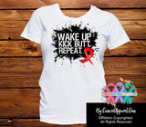 Blood Cancer Shirts Wake Up Kick Butt and Repeat - Cancer Apparel and Gifts
