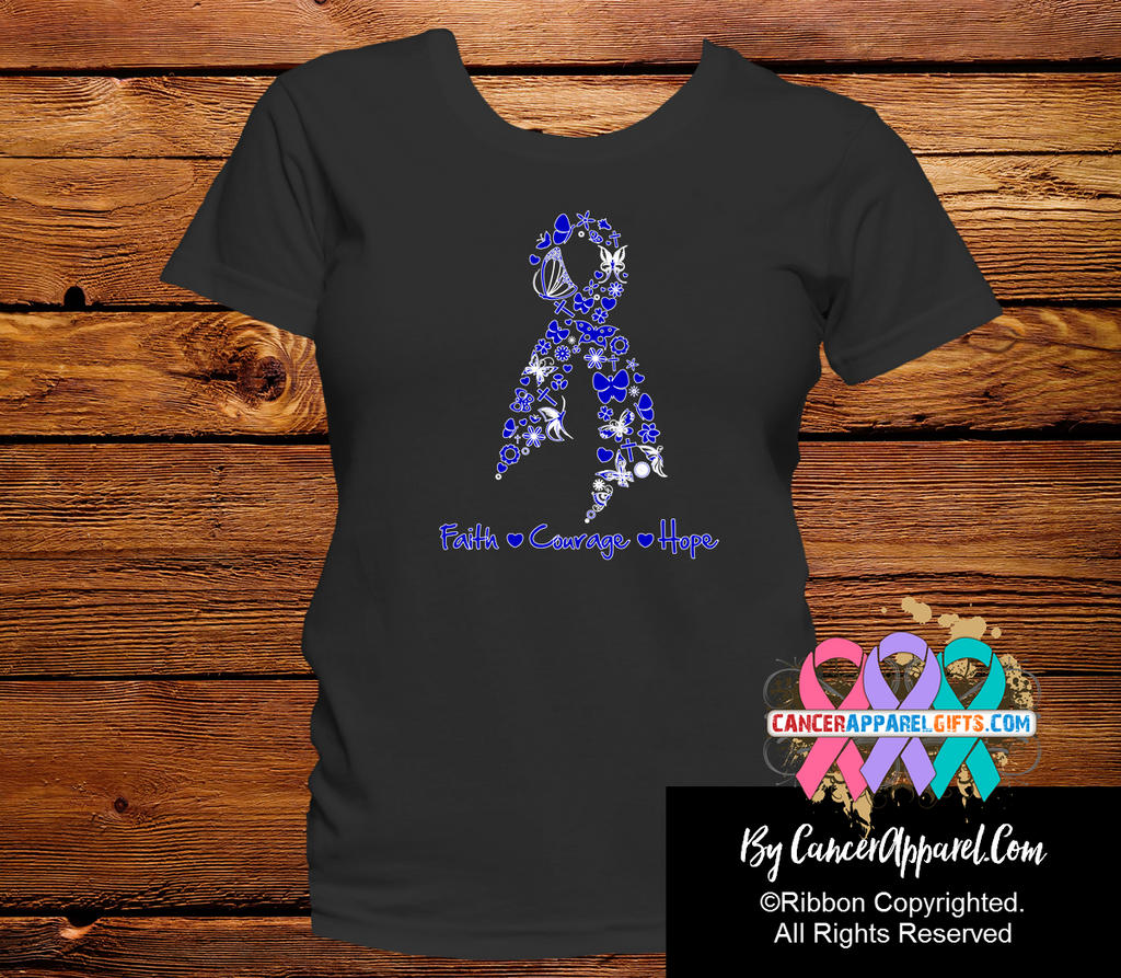 Colon Cancer Faith Courage Hope Shirts