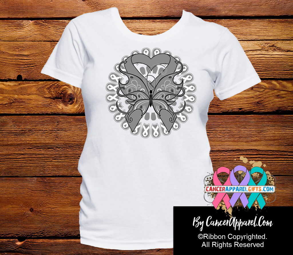 Brain Cancer Stunning Butterfly Shirts