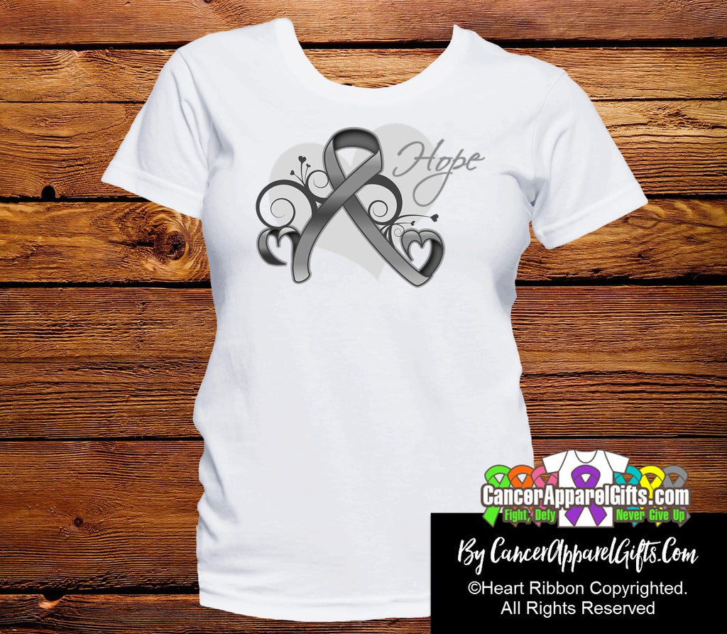 Brain Cancer Heart of Hope Ribbon Shirts