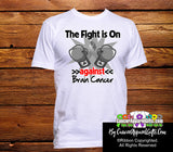 Brain Cancer The Fight is On Men Shirts