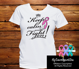 Breast Cancer Keep Calm and Fight On Shirts - Cancer Apparel and Gifts