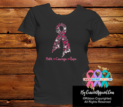 Head and Neck Cancer Faith Courage Hope Shirts - Cancer Apparel and Gifts