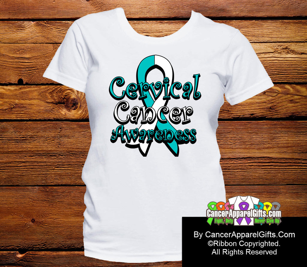 Cervical Cancer Awareness Ribbon Shirts