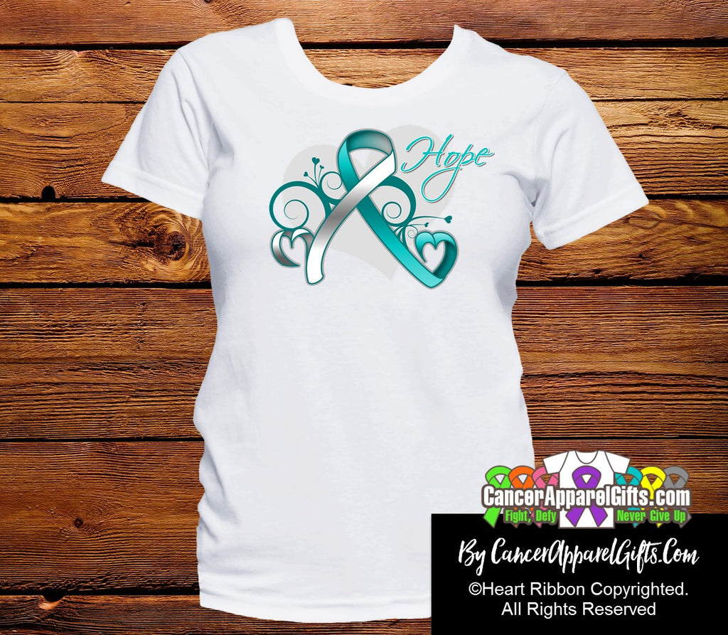 Cervical Cancer Heart of Hope Ribbon Shirts