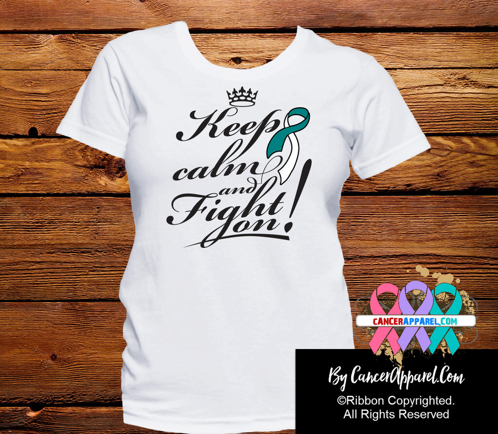 Cervical Cancer Keep Calm and Fight On Shirts