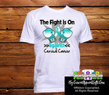 Cervical Cancer The Fight is On Men Shirts