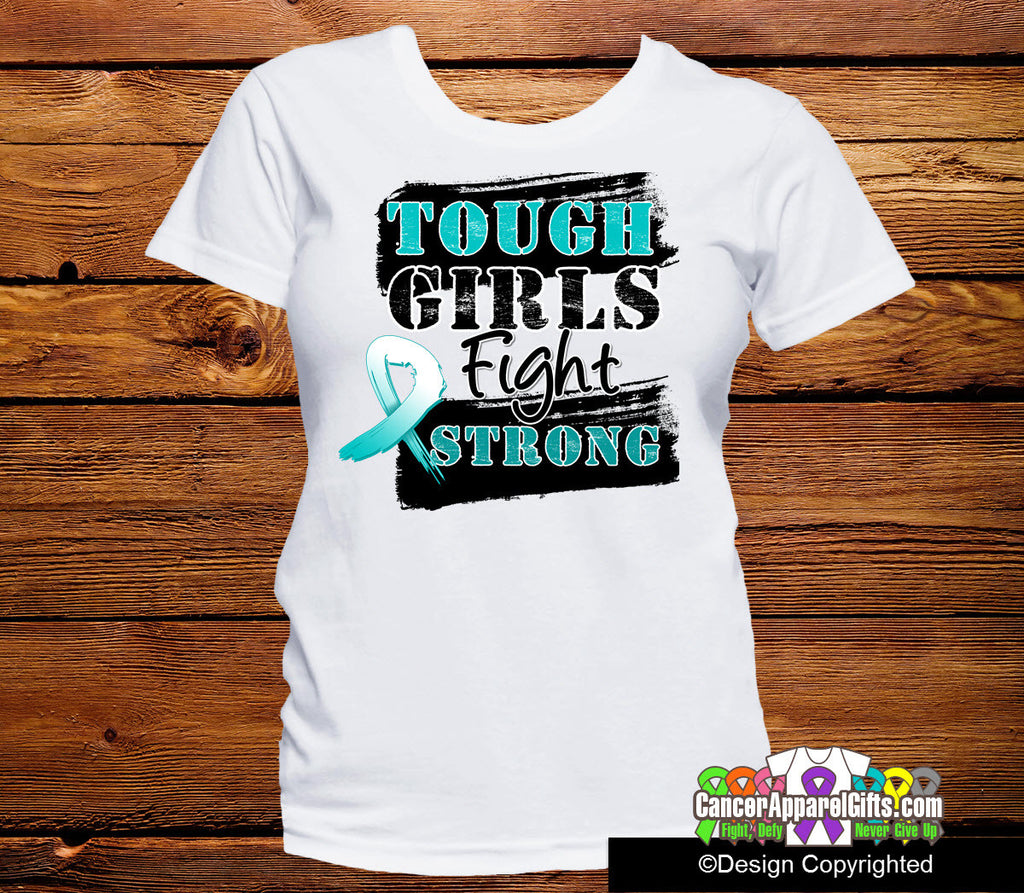Cervical Cancer Tough Girls Fight Strong Shirt