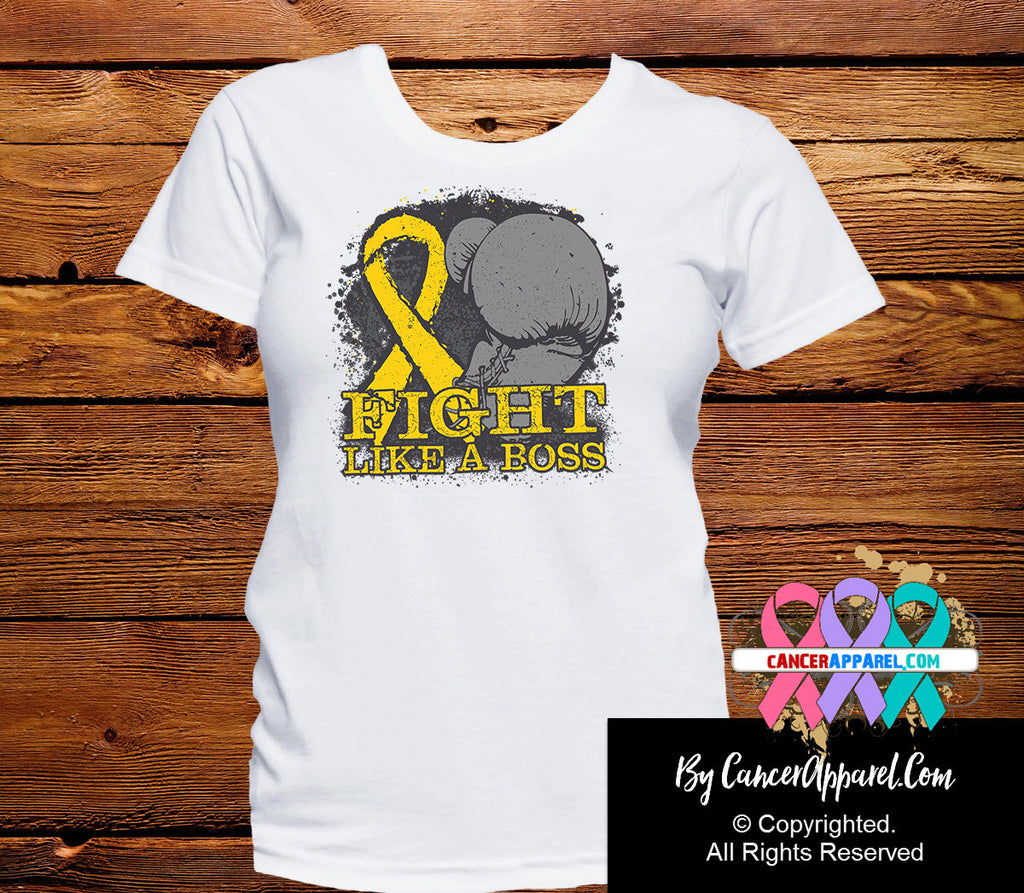 Childhood Cancer Fight Like a Boss Shirts