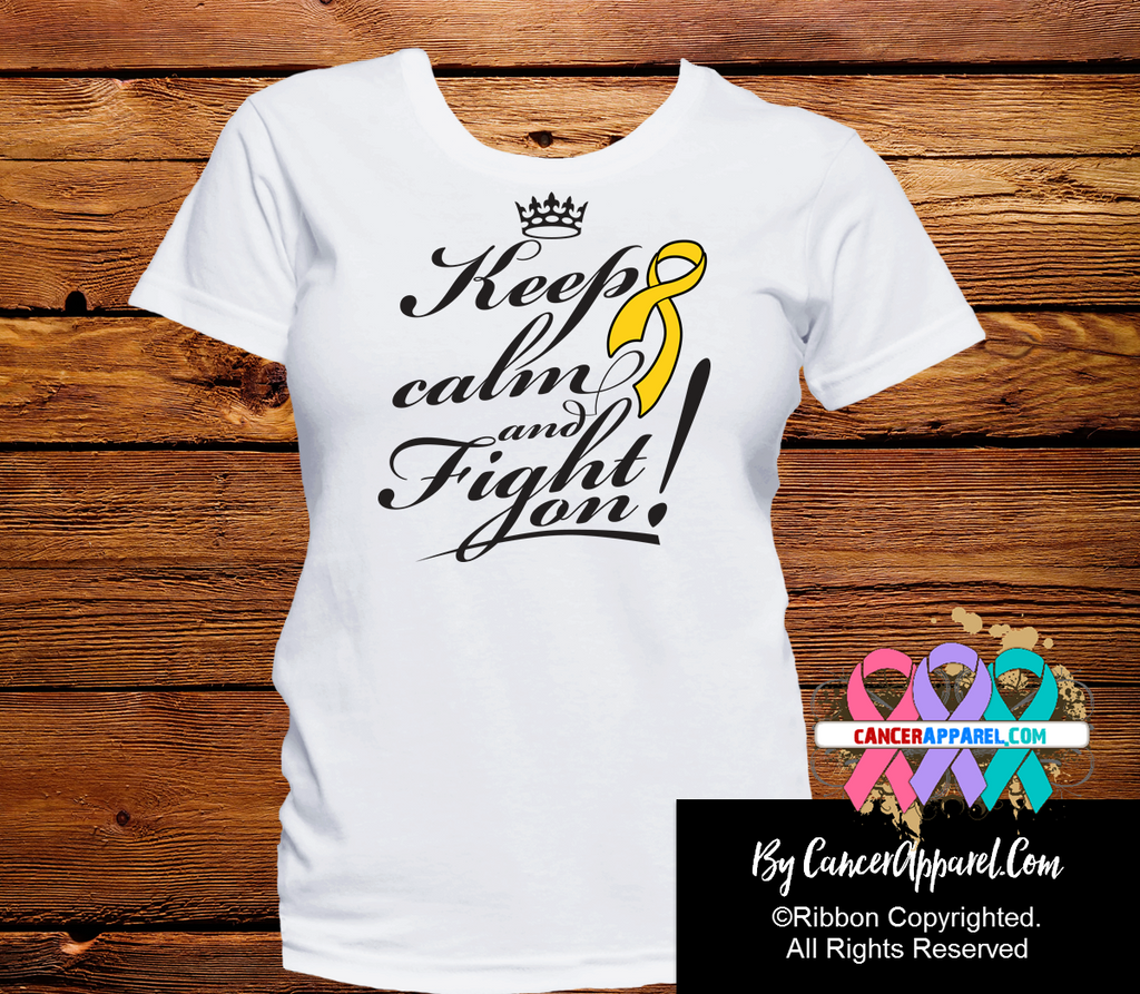 Childhood Cancer Keep Calm and Fight On Shirts