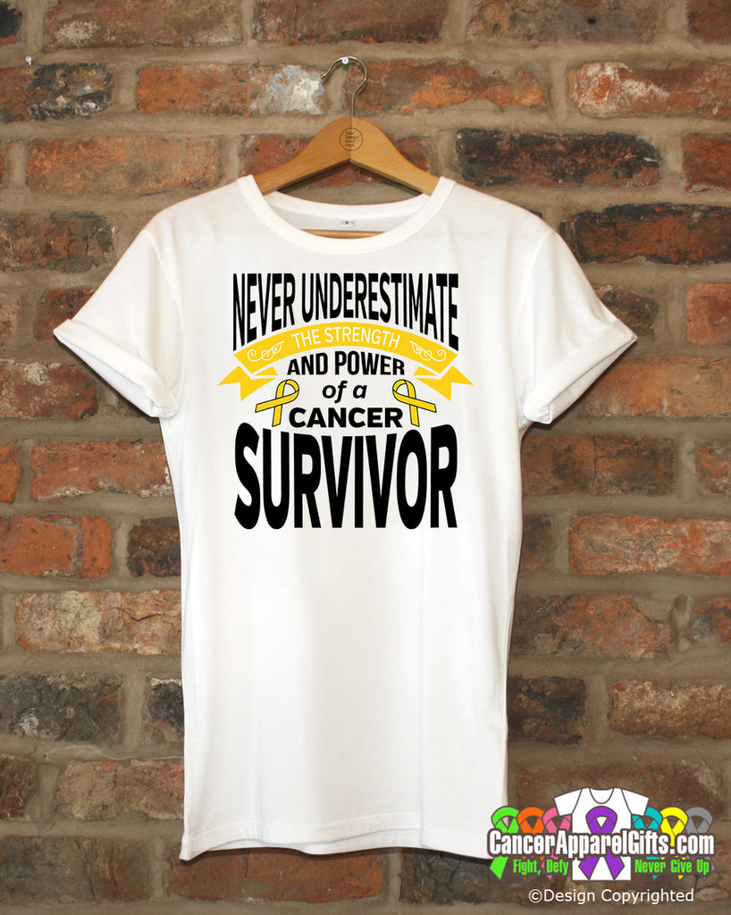 Childhood Cancer Never Underestimate Strength Shirts