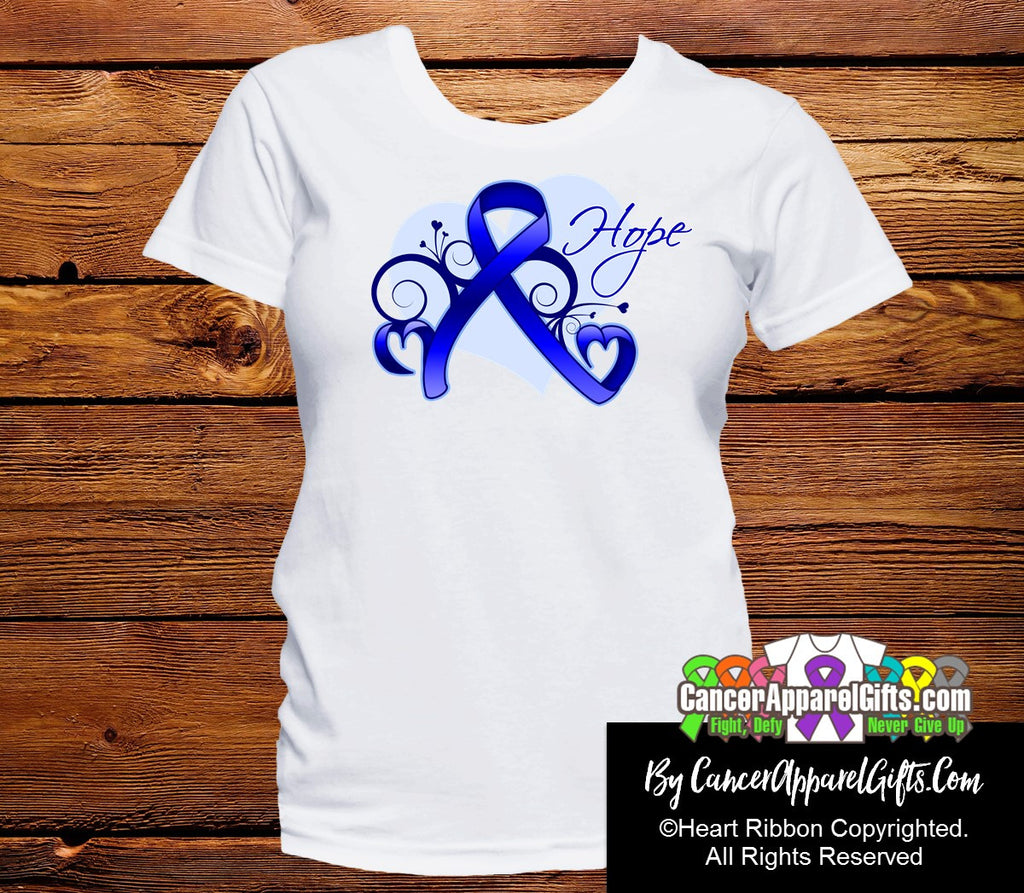 Colon Cancer Heart of Hope Ribbon Shirts