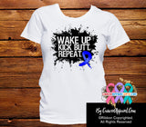 Colon Cancer Shirts Wake Up Kick Butt and Repeat - Cancer Apparel and Gifts