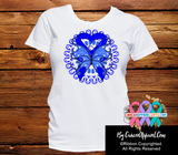 Colon Cancer Stunning Butterfly Shirts - Cancer Apparel and Gifts
