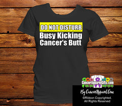 Do Not Disturb Busy Kicking Cancer's Butt Shirts - Cancer Apparel and Gifts