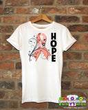 Endometrial Cancer Floral Hope Ribbon T-Shirt