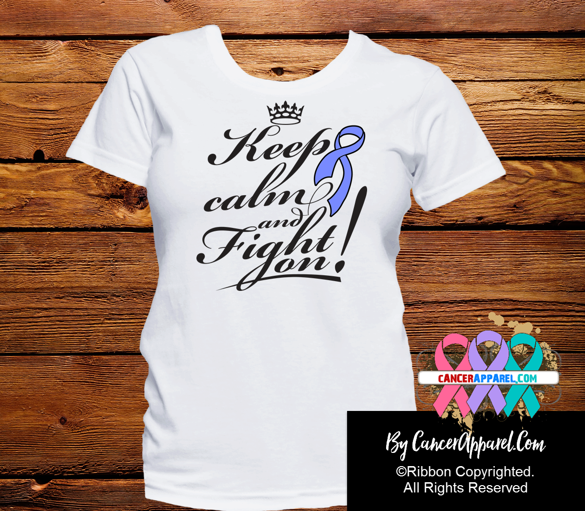 Esophageal Cancer Keep Calm and Fight On Shirts