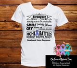 Esophageal Cancer The Strongest Among Us Shirts - Cancer Apparel and Gifts
