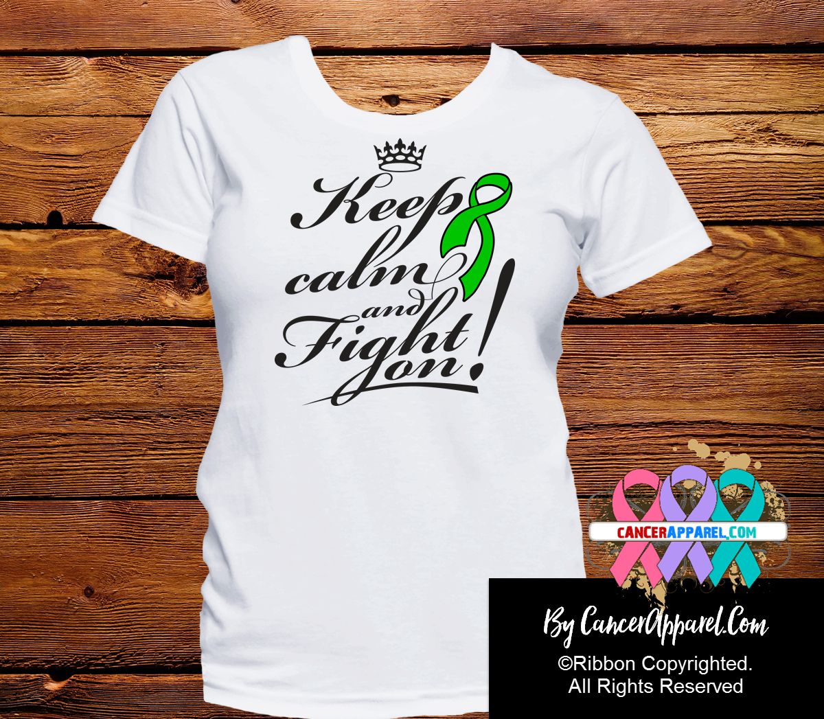 Bile Duct Cancer Keep Calm Fight On Shirts - Cancer Apparel and Gifts