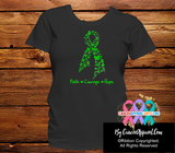 Bile Duct Cancer Faith Courage Hope Shirts - Cancer Apparel and Gifts