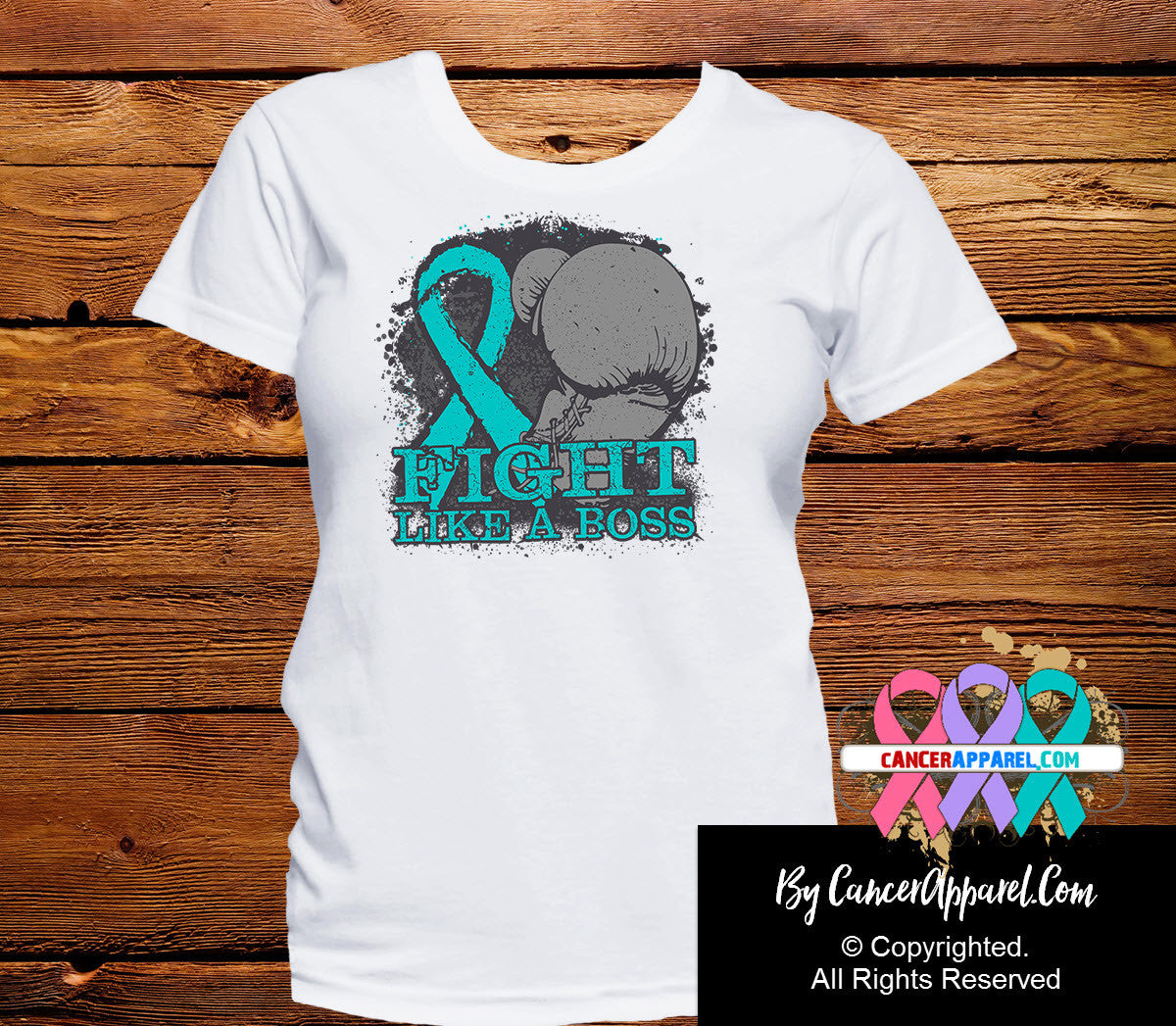 Gynecologic Cancer Fight Like a Boss Shirts