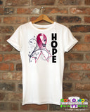 Head Neck Cancer Floral Hope Ribbon T-Shirt