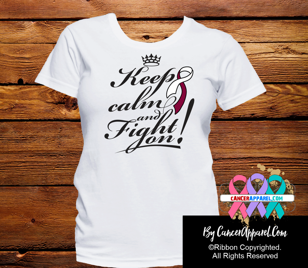 Head and Neck Cancer Keep Calm and Fight On Shirts