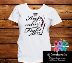 Head and Neck Cancer Keep Calm and Fight On Shirts - Cancer Apparel and Gifts