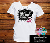Head and Neck Cancer Shirts:  Wake Up...Kick Butt...Repeat