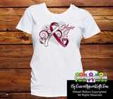 Head Neck Cancer Heart of Hope Ribbon Shirts - Cancer Apparel and Gifts