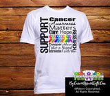 Cancer Awareness Matters Men Shirts With Colorful Ribbons