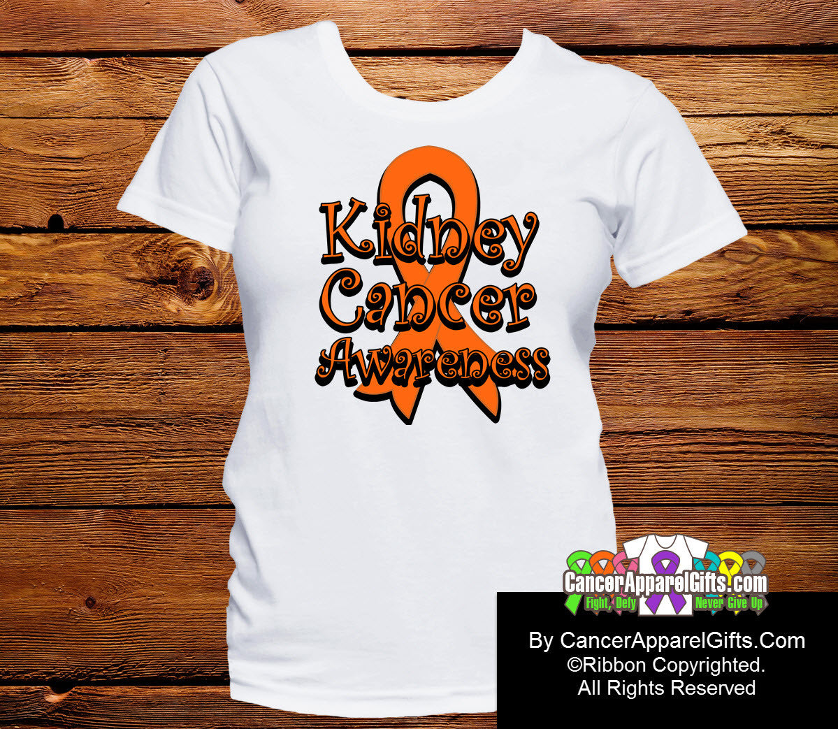 Kidney Cancer Awareness Ribbon Shirts