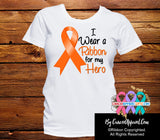 Kidney Cancer For My Hero Shirts - Cancer Apparel and Gifts
