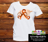 Kidney Cancer Heart of Hope Ribbon Shirts - Cancer Apparel and Gifts