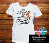 Leukemia Keep Calm and Fight On Shirts - Cancer Apparel and Gifts