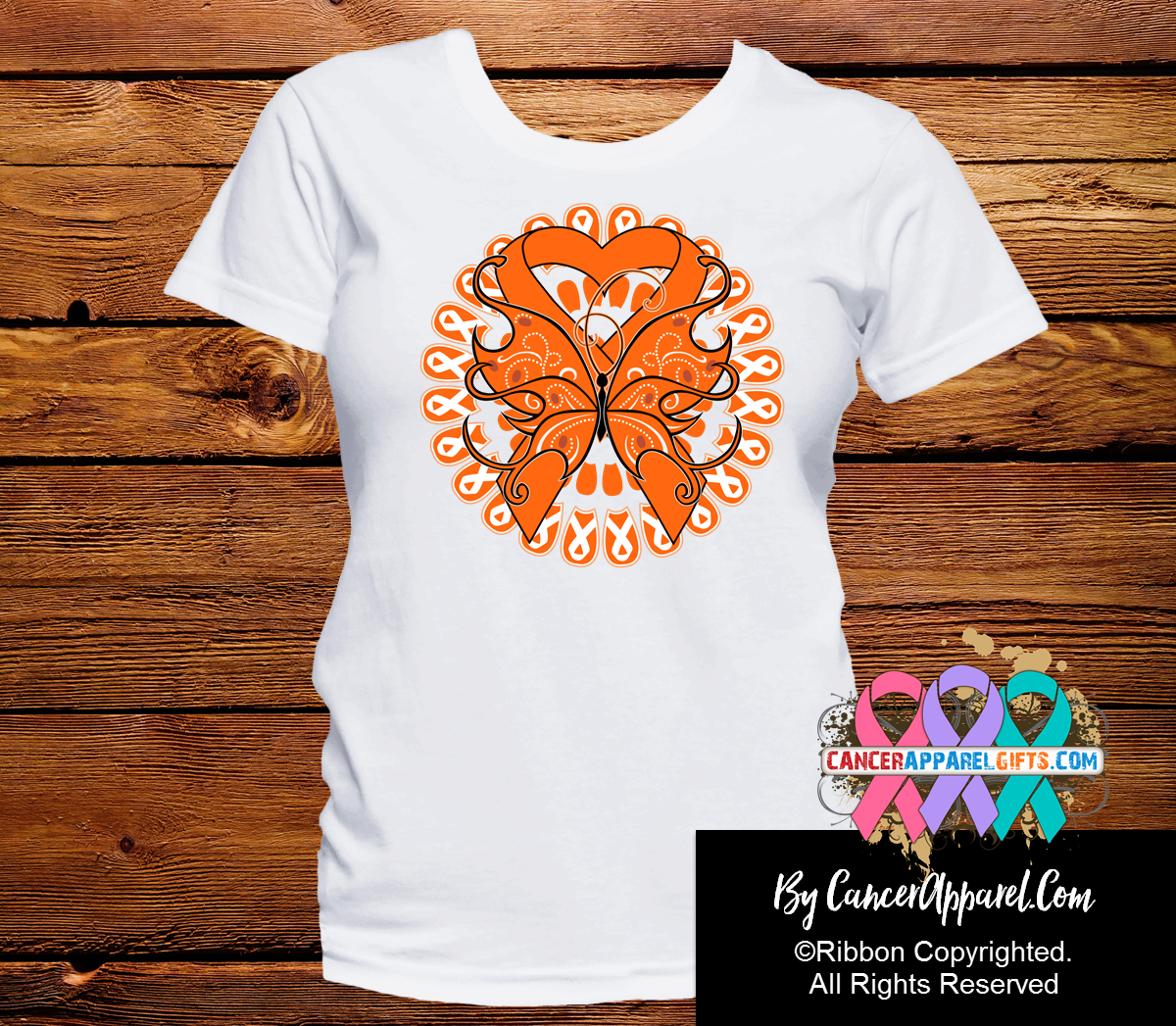 Leukemia Stunning Butterfly Shirts - Cancer Apparel and Gifts