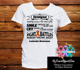 Leukemia The Strongest Among Us Shirts - Cancer Apparel and Gifts