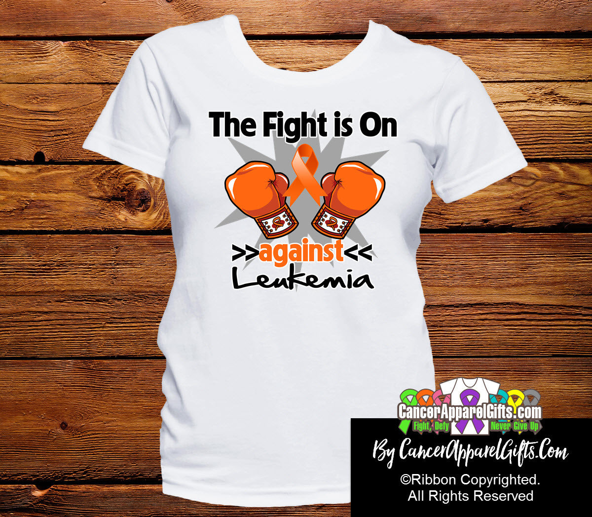 Kidney Cancer The Fight is On Ladies Shirts